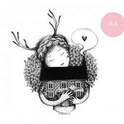Őzikelány - A4