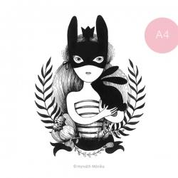 Álarcos lány - A4