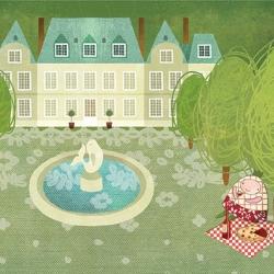 Piknik a kastélykertben - A5