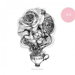 Rózsatea - A4
